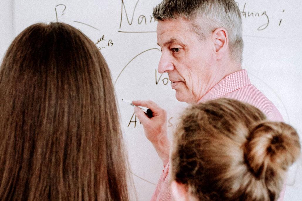 Unterricht an Tafel