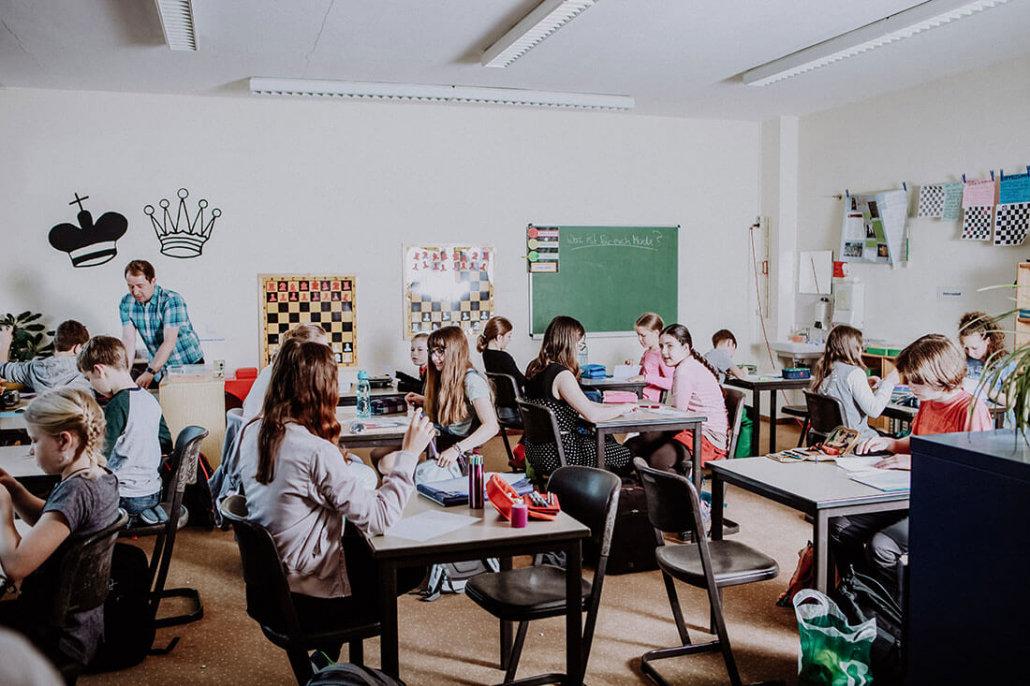 Klassenraum Unterricht